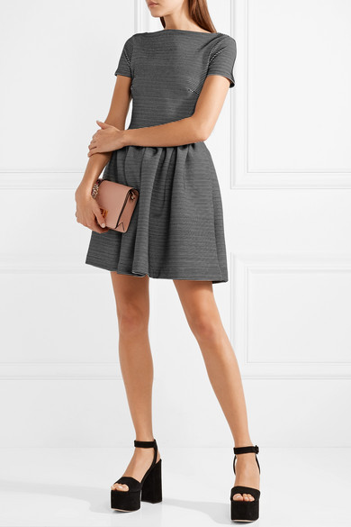 Miu Miu Minikleid aus geripptem Stretch-Jersey mit Streifen