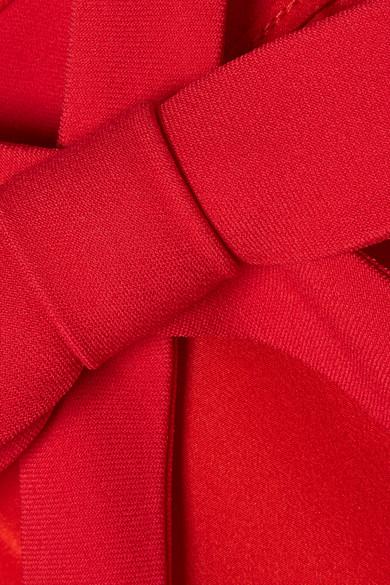 Miu Miu Minikleid aus Cady mit Schleifenverzierung Spielraum Kauf Rabatt Neue Ankunft bSneFRTu