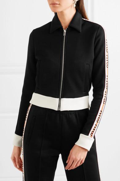 Miu Miu Jacke aus Jersey aus einer Baumwollmischung mit Streifen
