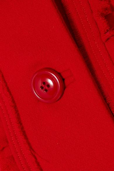Verkauf Für Billig Kostengünstig Miu Miu Jacke aus Woll-Crêpe mit Rüschenbesatz Verkauf Besuch Freiheit 100% Garantiert 88wYeH4Y