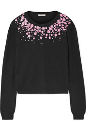 Embellished cashmere sweater