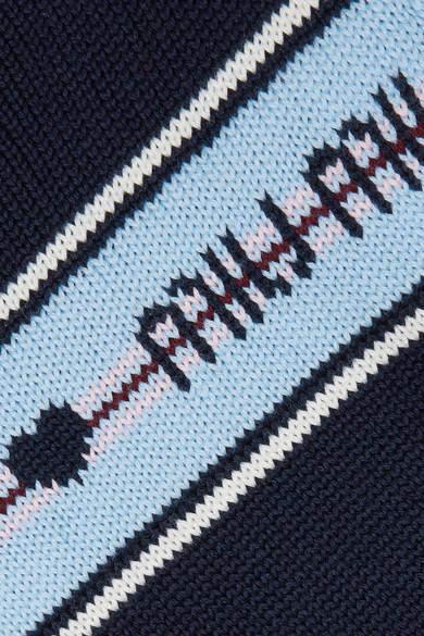 Miu Miu Wollpullover mit Intarsienmotiv