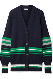 Miu Miu Oversized striped wool cardigan