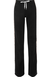 Miu Miu Striped cotton-blend jersey track pants