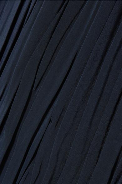 Miu Miu Midirock aus plissiertem Crêpe de Chine aus Seide mit Streifen