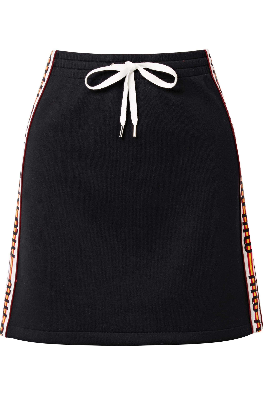 Miu Miu Striped cotton-blend mini skirt