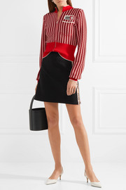 Miu Miu Striped cotton-blend mini skirt