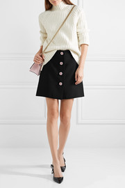 Miu Miu Embellished cady mini skirt