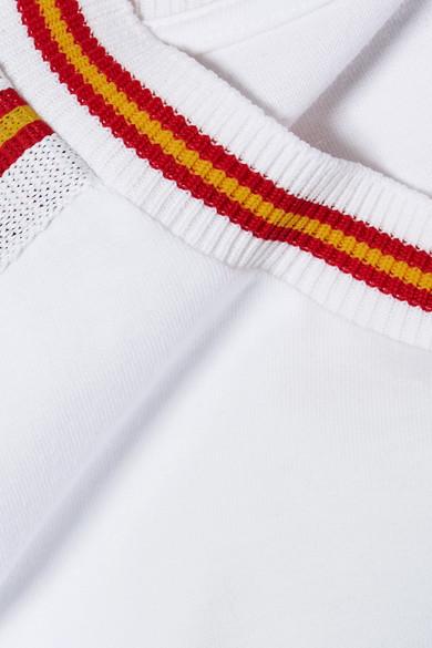 Miu Miu T-Shirt aus Baumwoll-Jersey mit Streifen Rabatt Aaa qdgirfGmNS