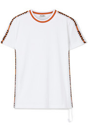 Miu Miu Striped cotton-jersey T-shirt