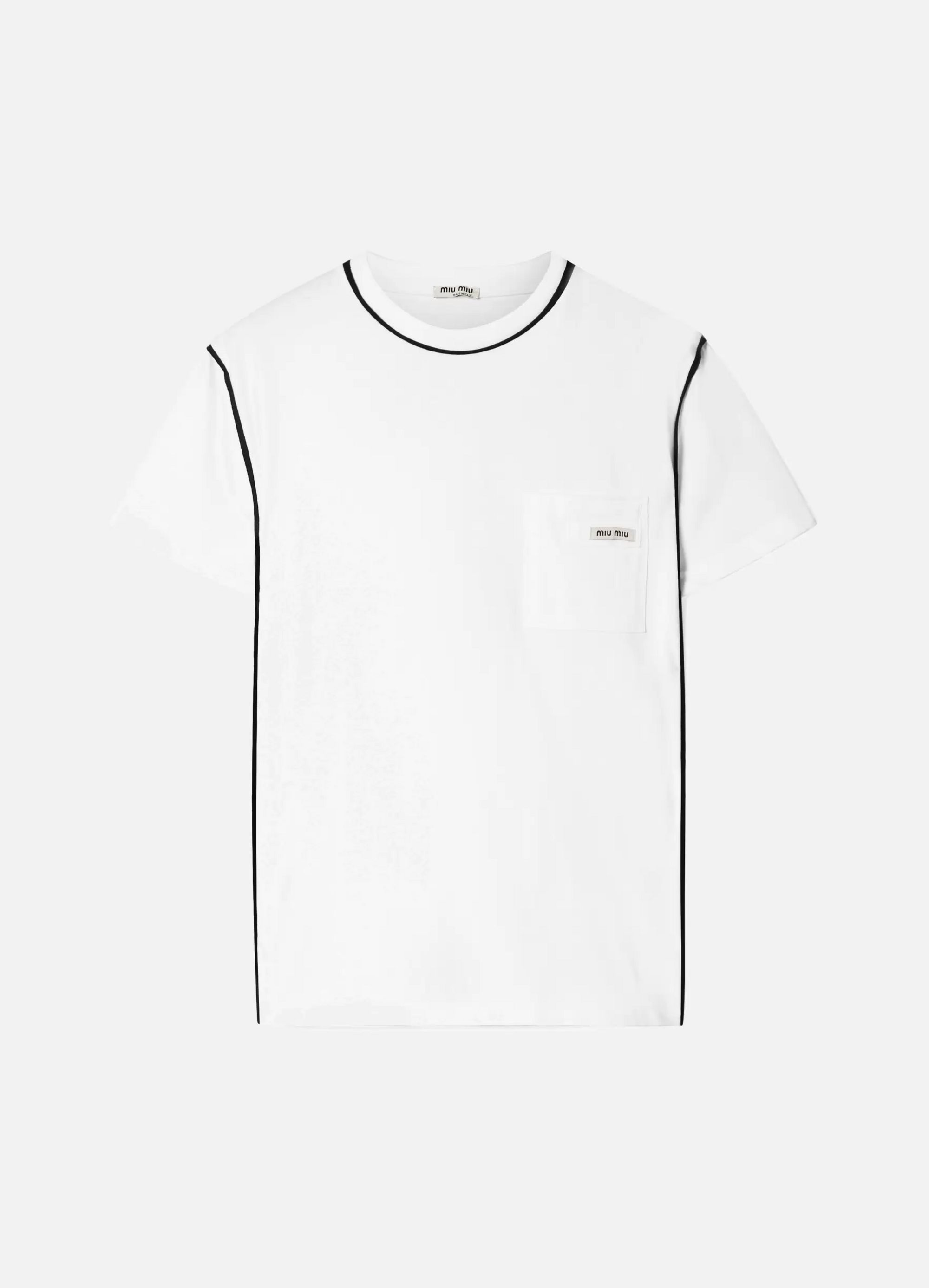 Miu Miu Printed cotton-jersey T-shirt