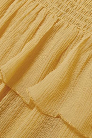 See by Chloé Kleid aus Seide in Knitteroptik mit Rüschen