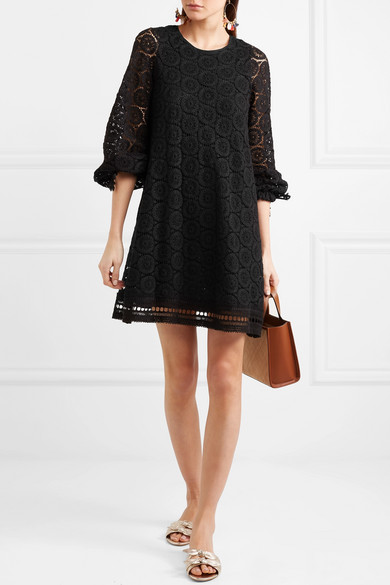 See By Chlo Corded Cotton Lace Mini Dress Net A Porter