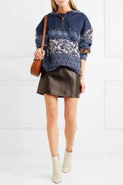 See by Chloé Jacquard-paneled denim hooded top