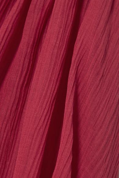 See by Chloé Oversized-Bluse aus Krepon aus einer Baumwoll-Seidenmischung mit Rüschen