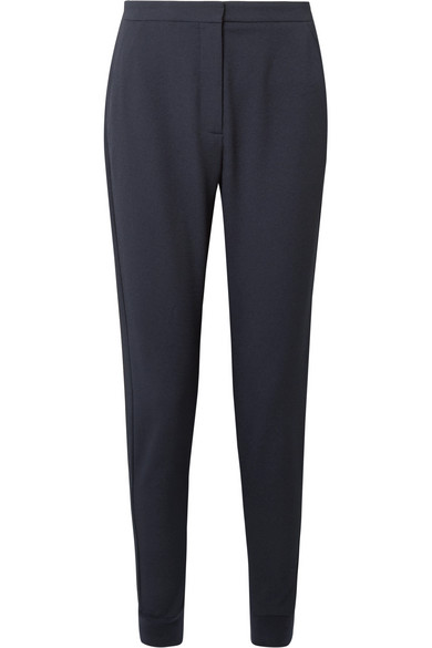 Textured Stretch-crepe Tapered Pants - Midnight blue See By Chlo EAUBX