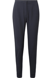Textured stretch-crepe tapered pants