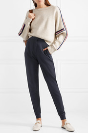 See by Chloé Textured stretch-crepe tapered pants