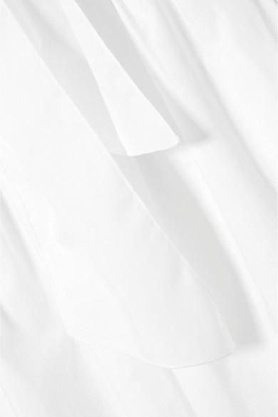 See by Chloé Bluse aus Baumwollpopeline mit Häkeleinsätzen