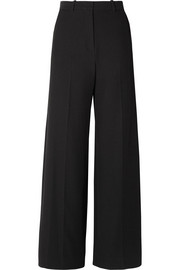 Stretch-twill wide-leg pants