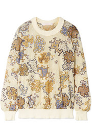 See by Chloé Printed open-knit sweatshirt