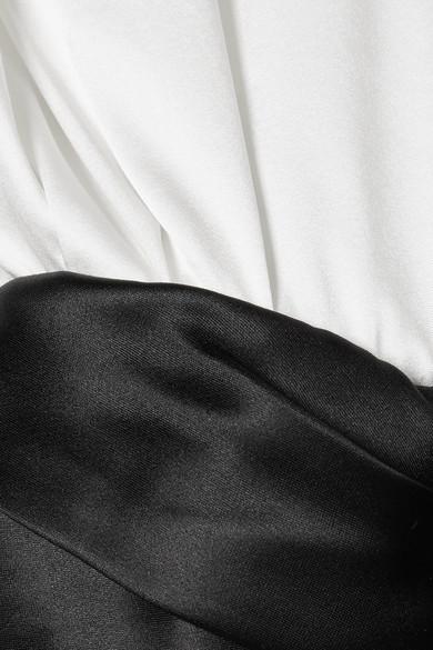 Alexander Wang Mehrlagiges Kleid aus einer Satin-Seidenmischung