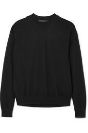 Alexander Wang Layered merino wool and cotton-blend sweater