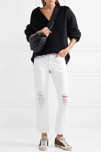 Alexander Wang Cult hoch sitzende Jeans mit geradem Bein in Distressed-Optik