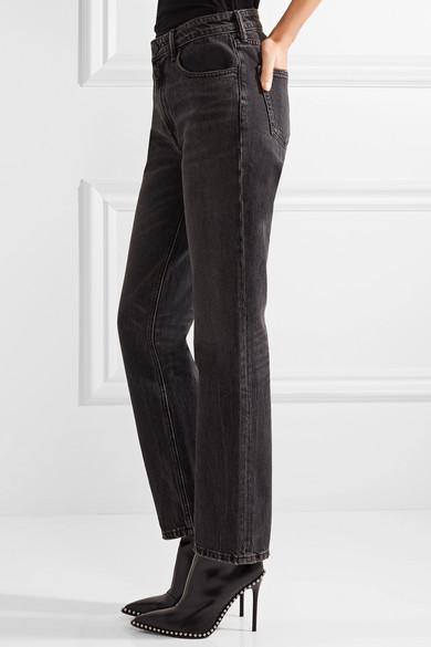 Alexander Wang Cult verkürzte, hoch sitzende Jeans mit geradem Bein