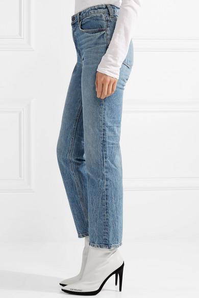 Alexander Wang Cult Shortened, High-seated Jeans With A Straight Leg