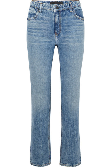 75d74267fb21 Alexander Wang. Cult cropped high-rise straight-leg jeans