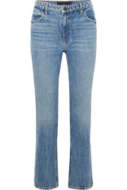 Cult cropped high-rise straight-leg jeans