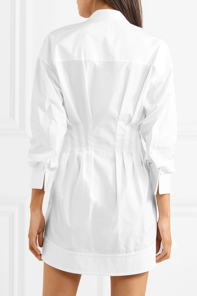 Alexander Wang Hemdblusenkleid aus Baumwollpopeline mit Biesen