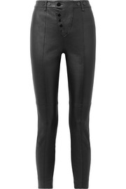Alexander Wang Stretch-leather leggings