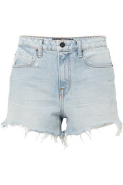 Bite frayed denim shorts