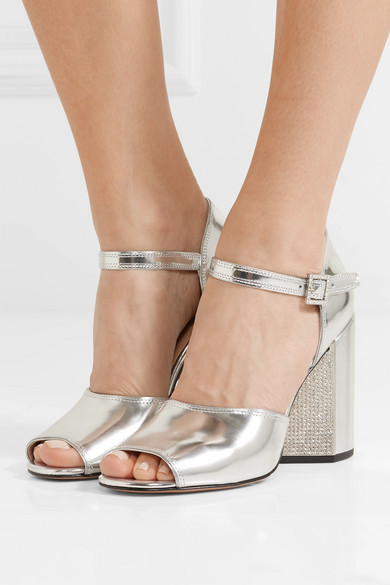 Original Günstiger Preis Marc Jacobs Kasia kristallverzierte Sandalen aus Metallic-Leder Online Kaufen Großer Verkauf 2018 Auslaß 9DsLJP
