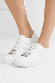 Marc Jacobs Empire embellished leather sneakers