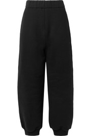 Cotton-fleece track pants