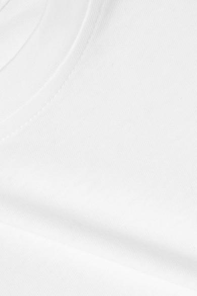T by Alexander Wang T-Shirt aus Baumwoll-Jersey in Wickeloptik