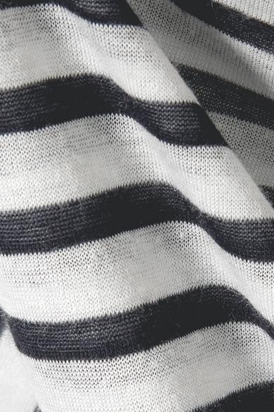 T by Alexander Wang Gestreifter Pullover aus Stretch-Jersey mit Flammgarneffekt