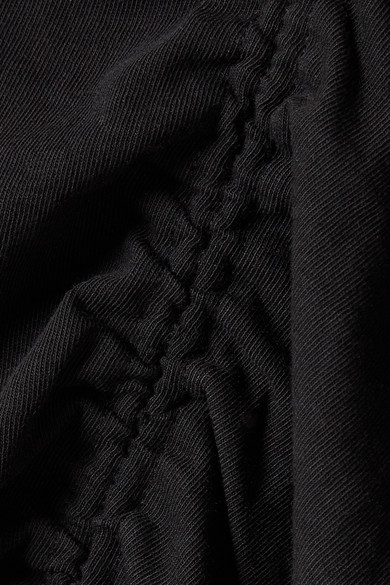 T by Alexander Wang Gerafftes T-Shirt aus Jersey aus Stretch-Baumwolle