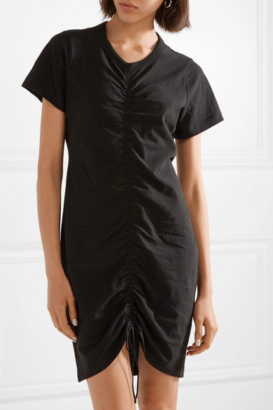 T by Alexander Wang Gerafftes Minikleid aus Jersey aus Stretch-Baumwolle