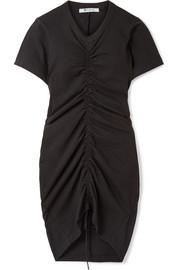 T by Alexander Wang Gathered stretch-cotton jersey mini dress