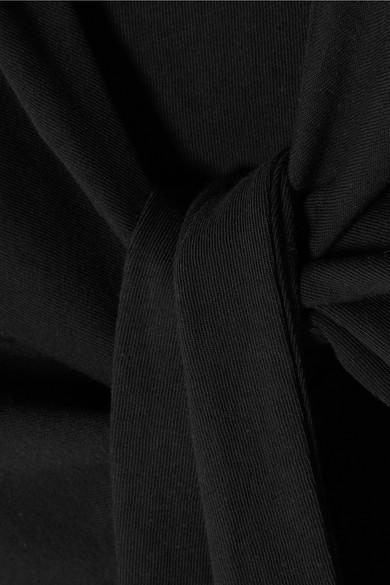 T by Alexander Wang Minikleid aus Baumwoll-Jersey mit Bindedetail vorne