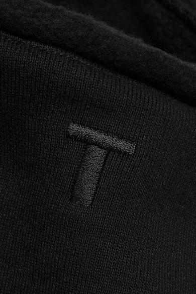 T by Alexander Wang BH-Oberteil aus Baumwollfleece