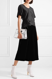 T by Alexander Wang Oversized ruched satin top