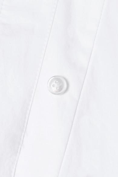 T by Alexander Wang Body aus Baumwollpopeline mit Wickeleffekt