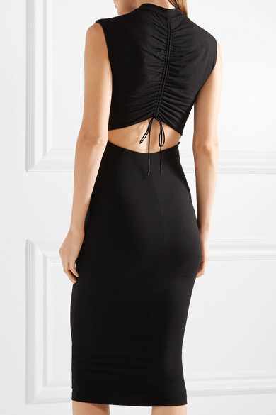 T by Alexander Wang Kleid aus Stretch-Modal mit Cut-outs