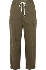 T by Alexander Wang Washed cotton-canvas tapered pants