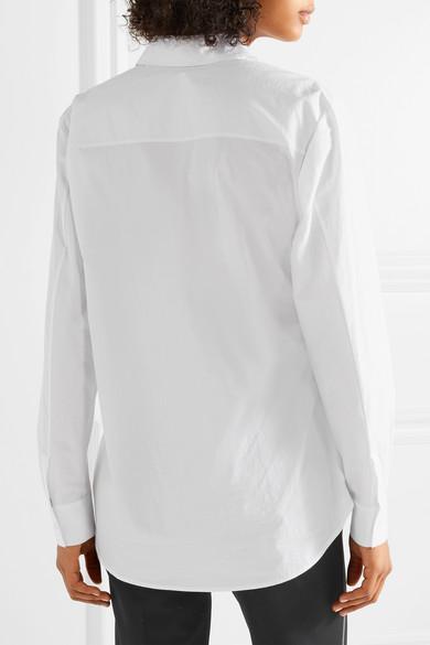 T by Alexander Wang Hemd aus Baumwollpopeline mit Cut-out